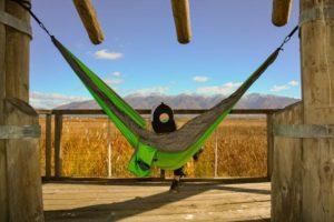 Apache Madera Hammocks hanging on porch