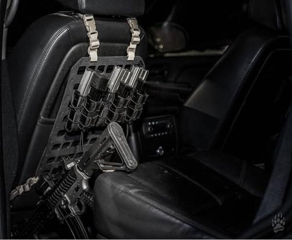 Rigid Insert Panel MOLLE vertical vehicle gun rack