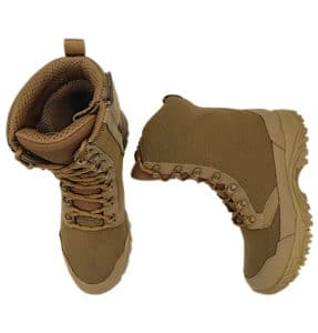 """Zip up hunting boots 8"""" brown Top and side view altai Gear"""