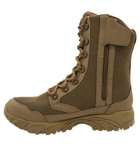"""Zip up hunting boots 8"""" brown inner side with zipper altai Gear"""