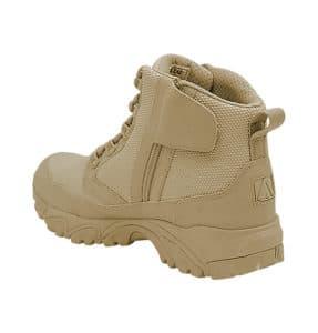 """Zip up work boots 6"""" tan inner heel with zipper altai Gear"""