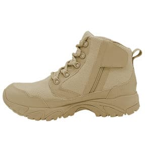 """Zip up work boots 6"""" tan inner side with zipper altai Gear"""