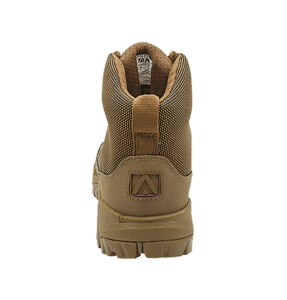 """Backpacking Boots Brown 6"""" heel view Altai gear"""