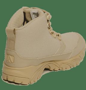 "Work Boots tan 6"" inner heel view Altai gear"