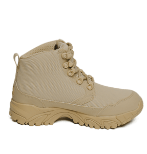 """Work Boots tan 6"""" inner side view Altai gear"""