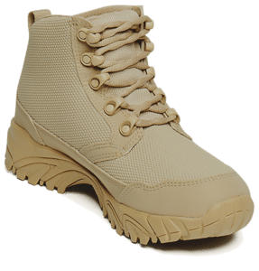 """Work Boots tan 6"""" inner toe view Altai gear"""