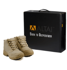 """Work Boots tan 6"""" package Altai gear"""