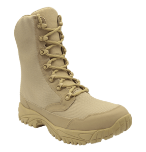 """Zip up combat boots 8"""" tan outer toe altai Gear"""