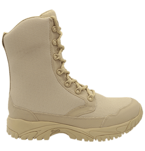 """Zip up combat boots 8"""" tan outer side altai Gear"""