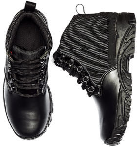 Uniform Boots Black leather side view and top Altai gear
