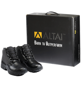 Uniform Boots Black leather pair and box Altai gear