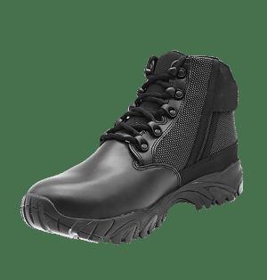 "Black side zip uniform boots 6"" inner toe with zipper Altai gear"