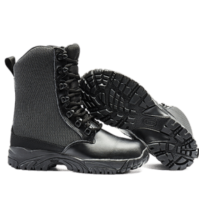 Leather Tactical Boots bottom sole and side view Altai gear