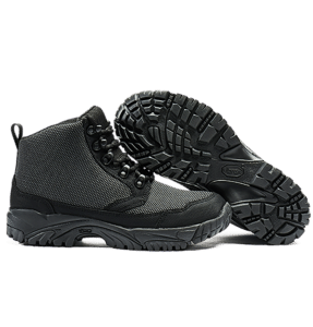 """6"""" Tactical Boots Black sole and side view Altai gear"""