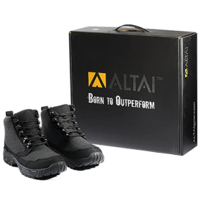 """6"""" Tactical Boots Black pair and package Altai gear"""